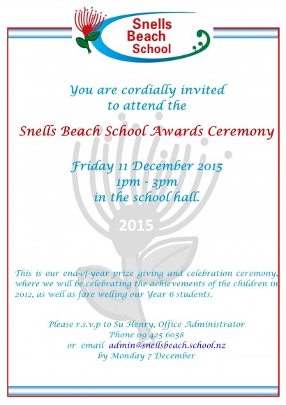 Invitation Awards Ceremony 2015